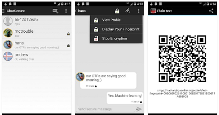 4 Best Secure Messaging Apps for Android 2017 ChatSecure 3